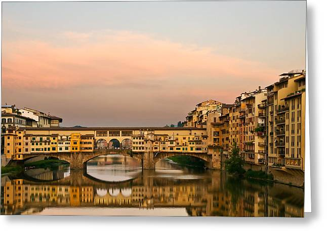 Florence Greeting Cards - Ponte Vecchio Greeting Card by Mick Burkey
