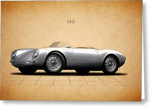 Porsche 550 Greeting Card by Mark Rogan