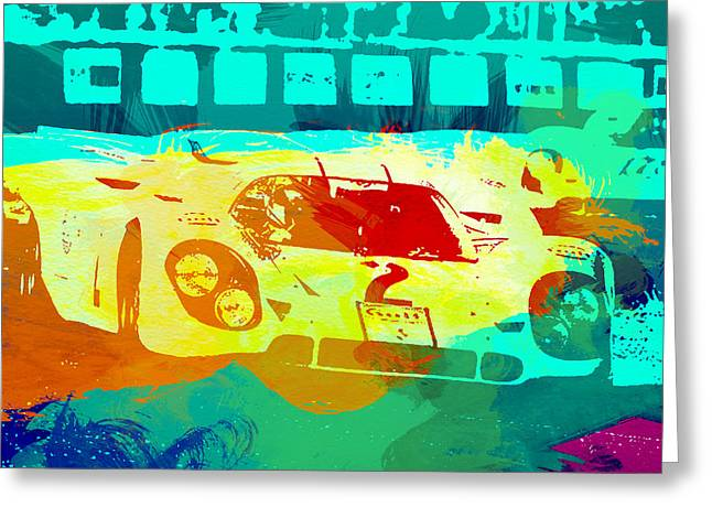 European Photographs Greeting Cards - Porsche 917 Watercolor Greeting Card by Naxart Studio