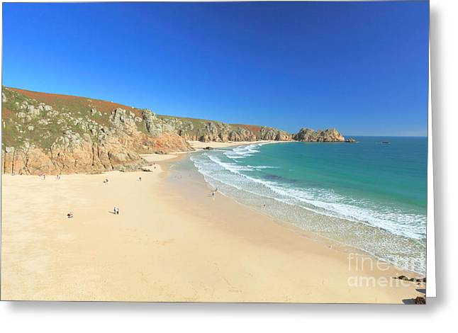 Porthcurno Greeting Card by Carl Whitfield