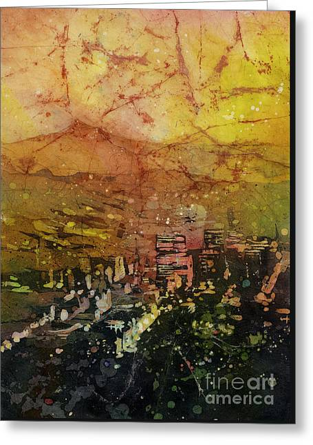 Art Reproduction Greeting Cards - Portland Sunrise Greeting Card by Ryan Fox