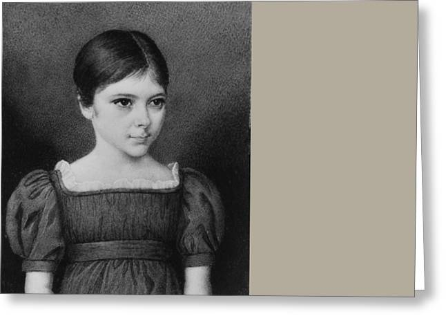 Portrait Of A Girl Greeting Card by MotionAge Designs
