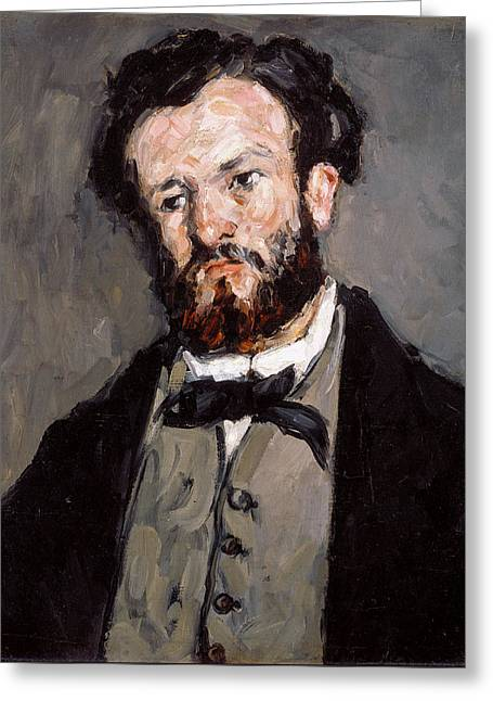 Portrait Of Anthony Valabregue Greeting Card by Paul Cezanne