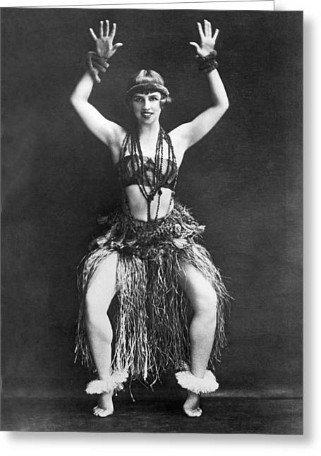 Portrait Of Dancer Agnes Boone Greeting Card by Underwood Archives