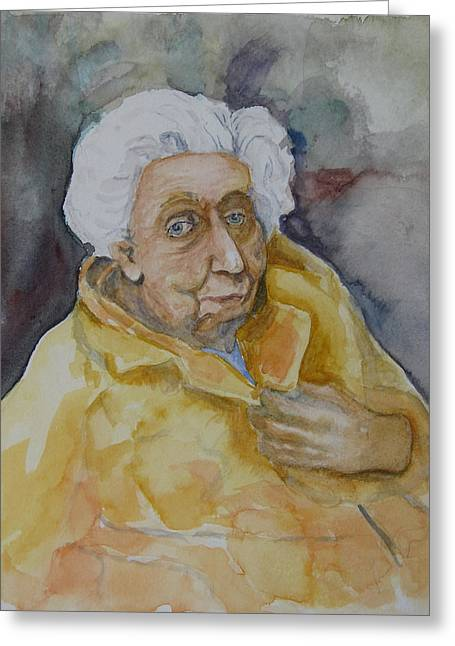 Famous Photographer Drawings Greeting Cards - Portrait of Eudora Welty   Greeting Card by Dan Earle