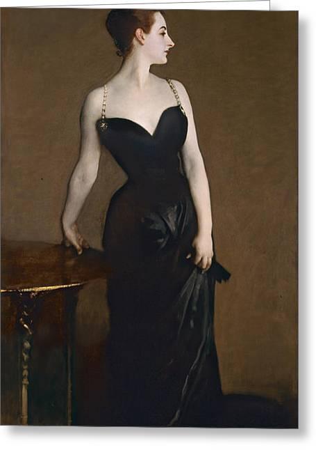 Portrait Of Madame Gautreau Greeting Card by John Singer Sargent