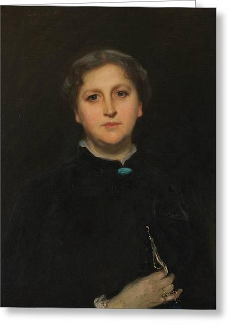 Portrait Of Mrs Raphael Pumpelly Greeting Card by John Singer Sargent