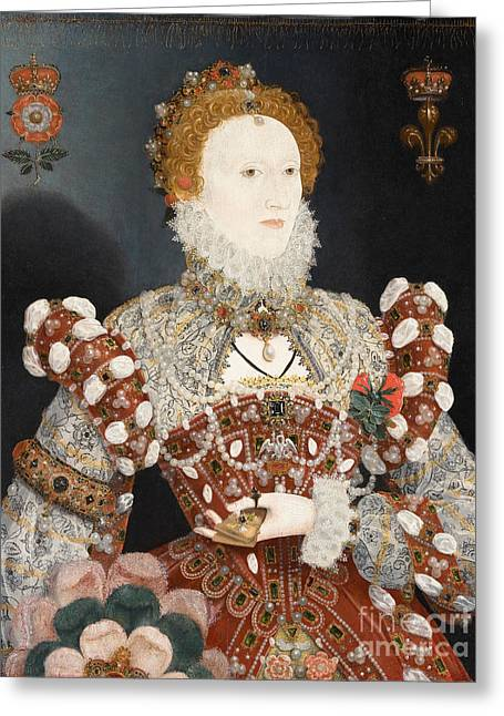 Hilliard Greeting Cards - Portrait of Queen Elizabeth I Greeting Card by Celestial Images
