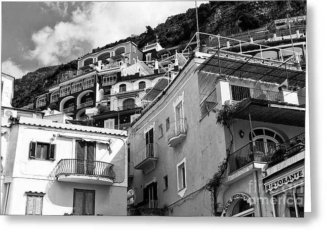 Print Photographs Greeting Cards - Positano Dimensions Greeting Card by John Rizzuto