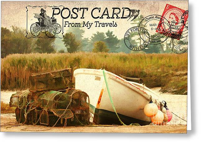 Metal Fish Art Photography Greeting Cards - Postcard From My Travels. Greeting Card by ShabbyChic fine art Photography