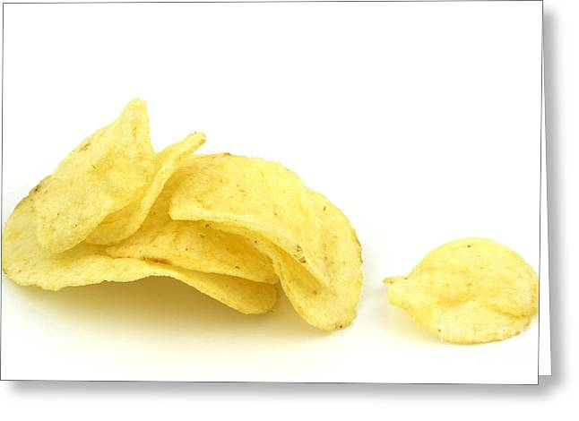 Crisp Greeting Cards - Potato chips Greeting Card by Blink Images