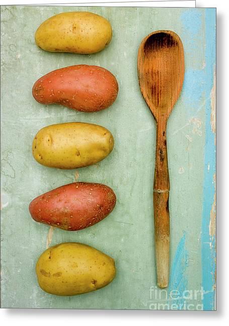 Potatoes Variety Greeting Card by Bernard Jaubert
