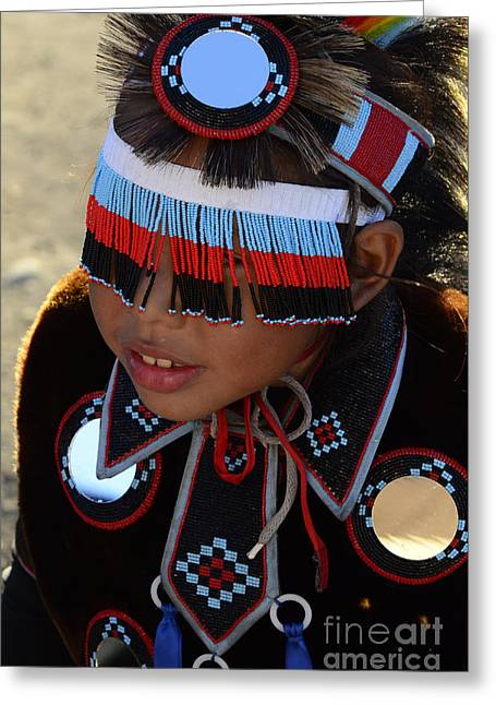 Fancy-dancer Greeting Cards - Pow Wow Beauty Of The Past 3 Greeting Card by Bob Christopher