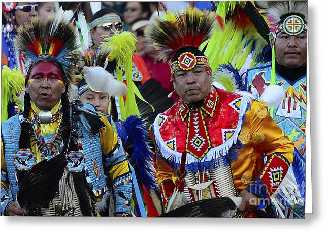 Pow Wow Beauty Of The Past 8 Greeting Card by Bob Christopher