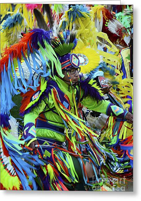 Fancy-dancer Greeting Cards - Pow Wow Beauty Of The Past 2 Greeting Card by Bob Christopher