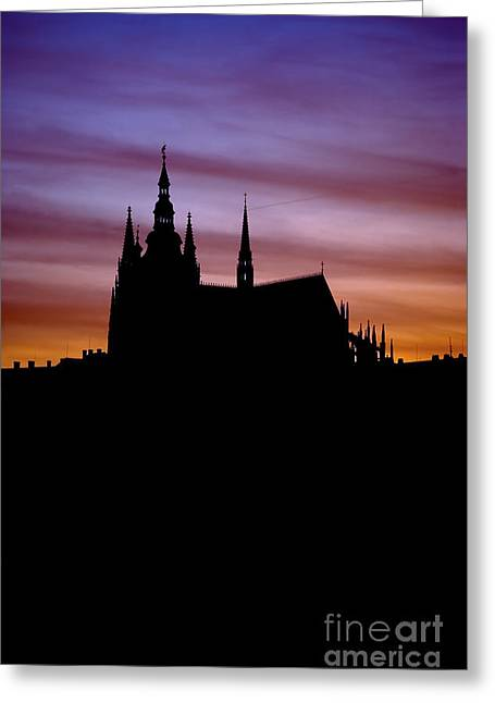 Medieval Temple Greeting Cards - Prague castle Greeting Card by Michal Boubin