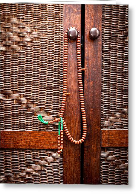 Cupboard Greeting Cards - Prayer beads Greeting Card by Tom Gowanlock