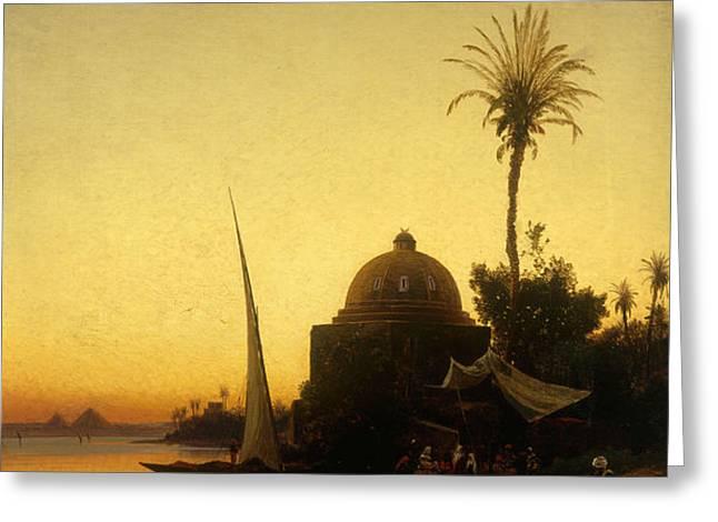 Praying to Mecca Greeting Card by Herman David Salomon Corrodi