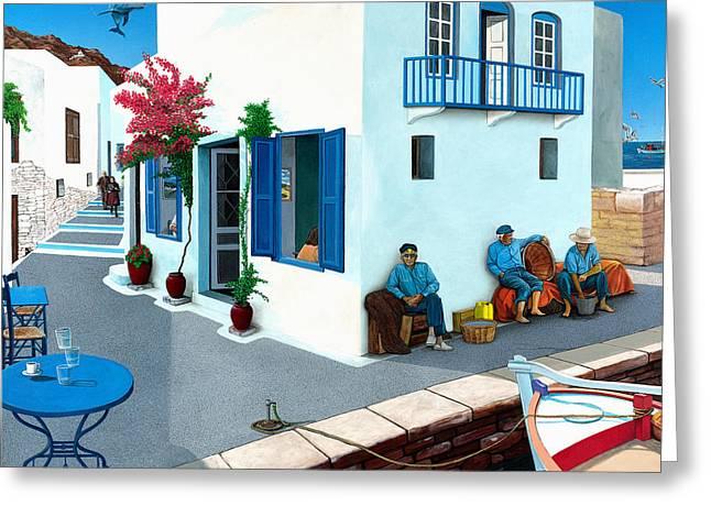 Mediterranean Landscape Greeting Cards - Premonition Greeting Card by Snake Jagger