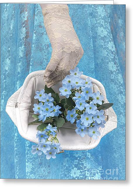 Lace Glove Greeting Cards - Present Greeting Card by Svetlana Sewell