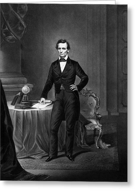 Civil Greeting Cards - President Abraham Lincoln Greeting Card by War Is Hell Store