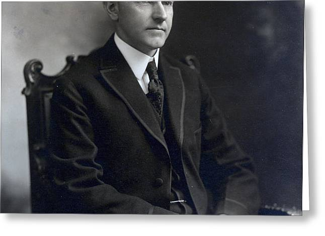 President Calvin Coolidge Greeting Card by International  Images