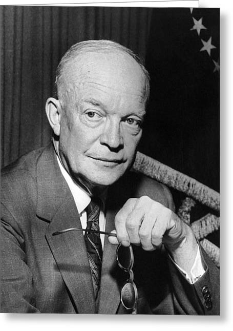 President Dwight D. Eisenhower Greeting Card by Underwood Archives