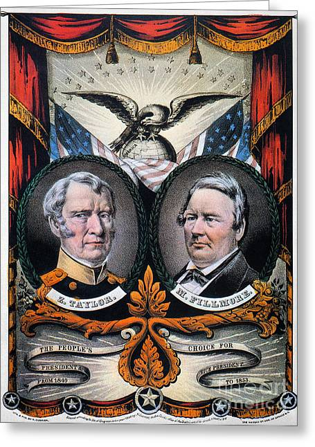 Sideburns Greeting Cards - Presidential Campaign, 1848 Greeting Card by Granger