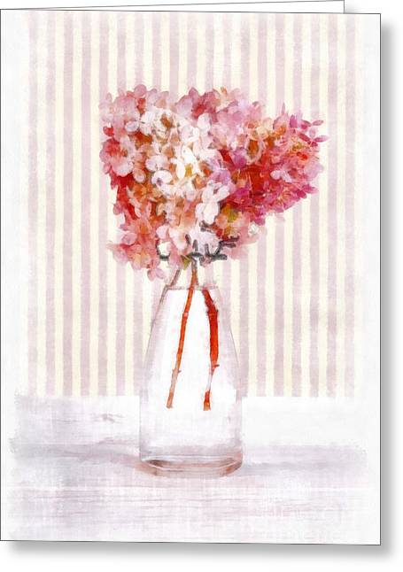 Pretty In Pink Greeting Card by Edward Fielding