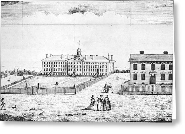 Recently Sold -  - Engraving Greeting Cards - Princeton College, 1764 Greeting Card by Granger