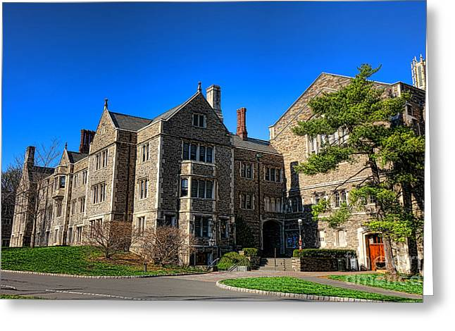 Dillon Greeting Cards - Princeton University Little and Dillon Gym Halls Greeting Card by Olivier Le Queinec