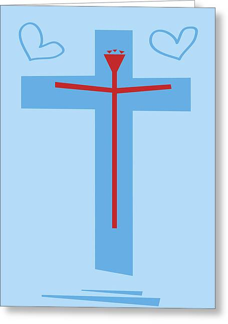 Jesus Christ Icon Drawings Greeting Cards - Love Finds Itself in Strange Places Greeting Card by Damien Green