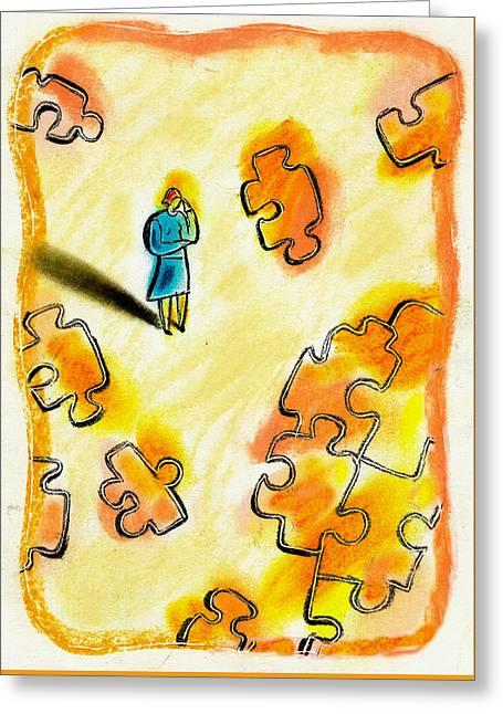 Problem Solving Greeting Card by Leon Zernitsky