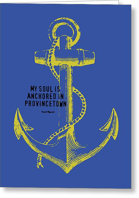 Provincetown Anchor Greeting Card by Brandi Fitzgerald