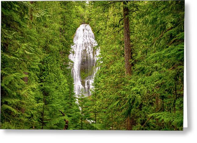 Proxey Falls  Greeting Card by Connie Cooper-Edwards