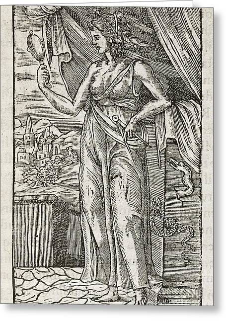 Moral Greeting Cards - Prudence, 16th Century Greeting Card by Middle Temple Library