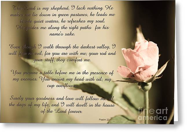 Shepherds Greeting Cards - Psalm 23 Greeting Card by Andrea Anderegg