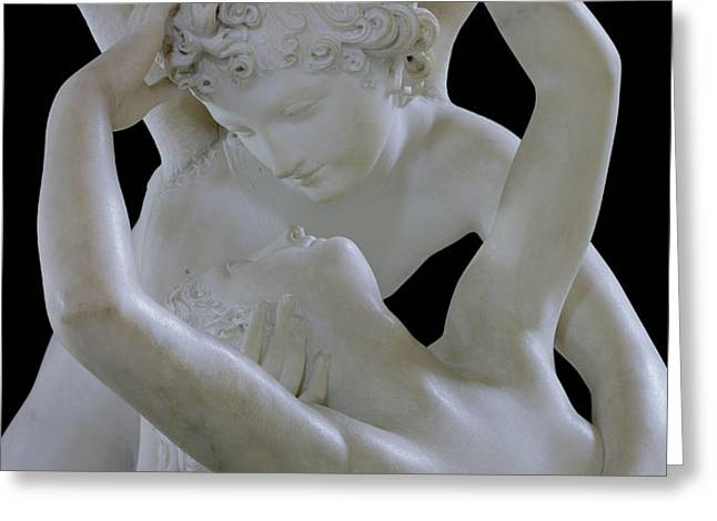 Psyche Revived by the Kiss of Cupid Greeting Card by Antonio Canova