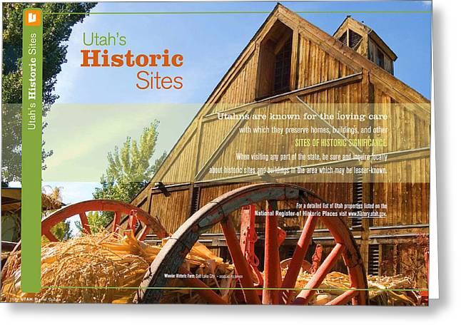Pioneer Park Greeting Cards - Published by Utah Office of Tourism Greeting Card by Utah Images