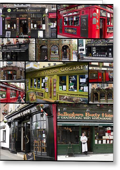 Pubs Greeting Cards - Pubs of Dublin Greeting Card by David Smith
