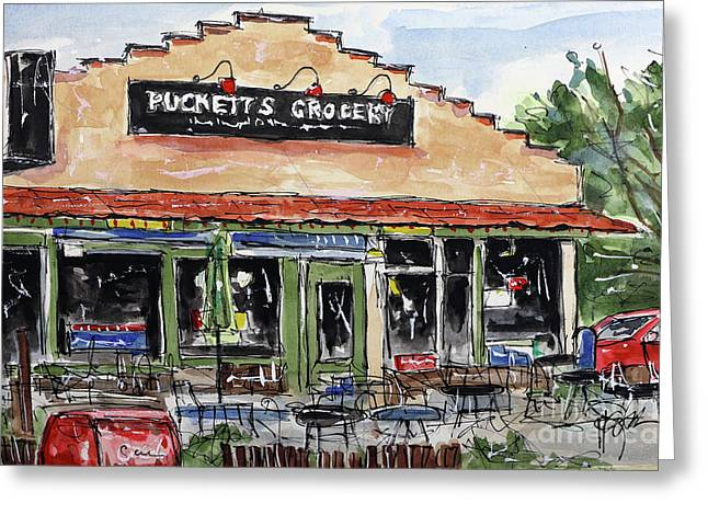Puckett's Grocery Greeting Card by Tim Ross