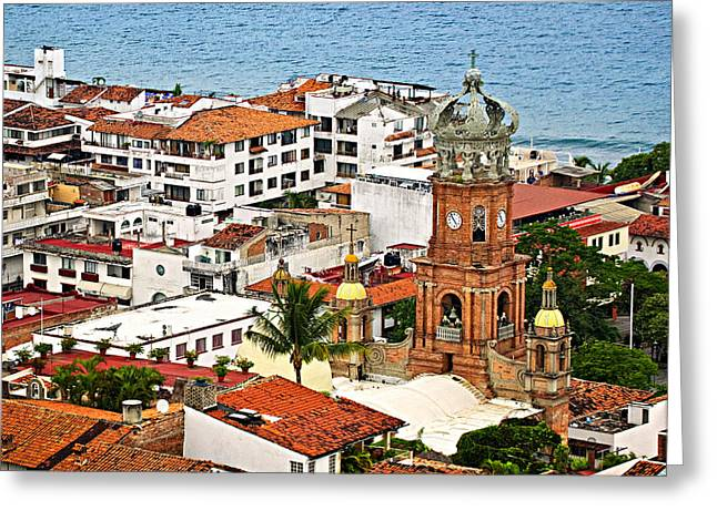 Authentic Greeting Cards - Puerto Vallarta Greeting Card by Elena Elisseeva