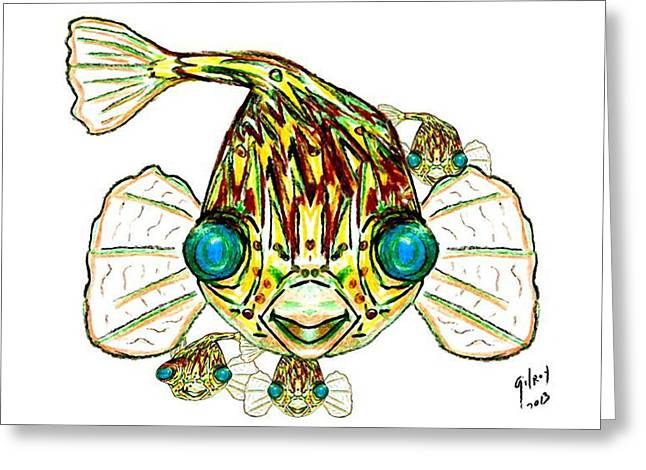 Melbourne Beach Greeting Cards - Puffer Fish Greeting Card by W Gilroy