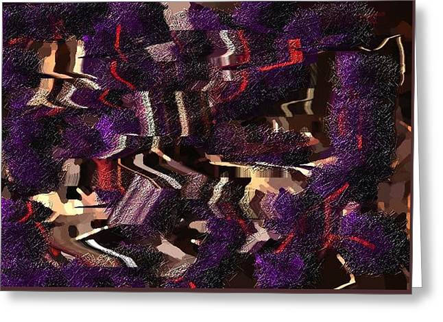 Texture Tapestries - Textiles Greeting Cards - Purple Layer Greeting Card by Claire Masters