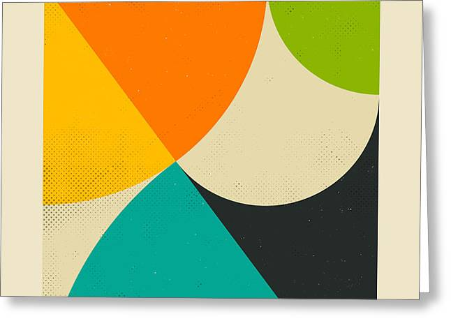 Geometric Art Greeting Cards - Pythagorean Triad Greeting Card by Jazzberry Blue
