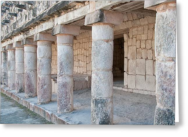 The Quadrangle Greeting Cards - Quadrangle of the Birds at Uxmal Greeting Card by Carol Ailles