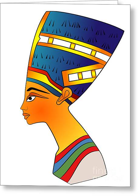 Pharaoh Digital Greeting Cards - Queen of Ancient Egypt Greeting Card by Michal Boubin