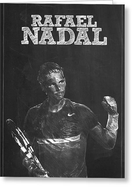 Federer Art Greeting Cards - Rafael Nadal Greeting Card by Semih Yurdabak