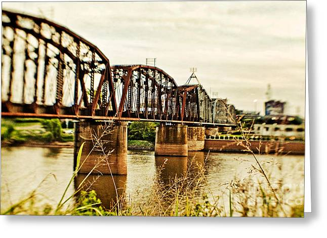 Railroad Bridge Greeting Cards - Railroad Bridge Greeting Card by Scott Pellegrin