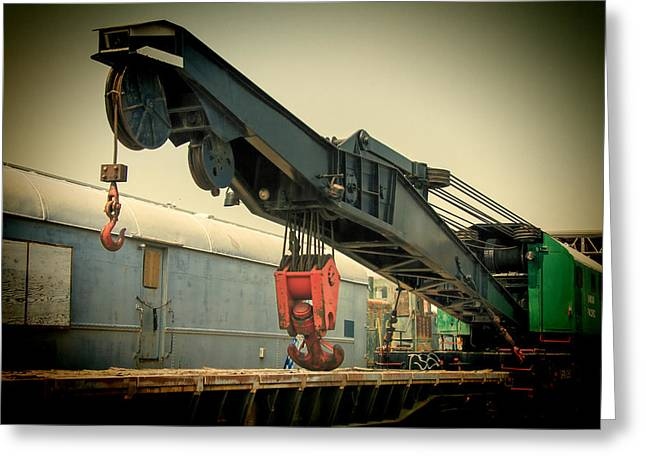 Southern Utah Greeting Cards - Railroad Crane Greeting Card by Nick Gray